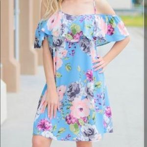 NWT Tennessee Jane Happy Thoughts blue dress